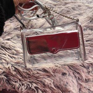 Brand New Transparent Silver Crossbody Bag
